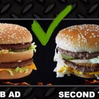 Já pensou se seu hambúrguer viesse igual ao da foto? Esse cara conseguiu...
